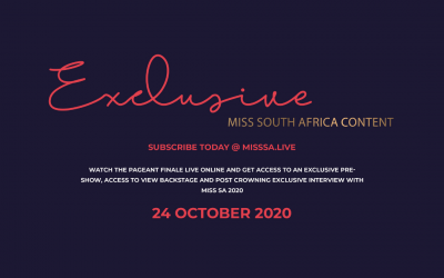 COUNTDOWN TO THE MISS SOUTH AFRICA 2020 LIVE SHOW