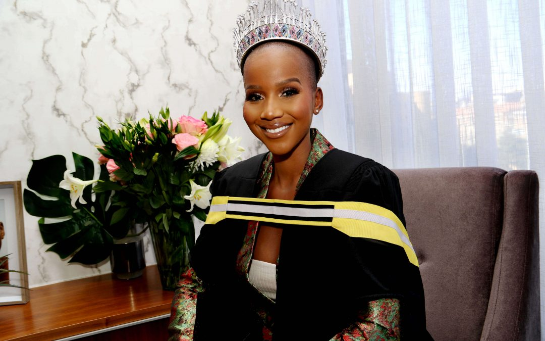 Tears of joy as Miss South Africa Shudufhadzo Musida graduates